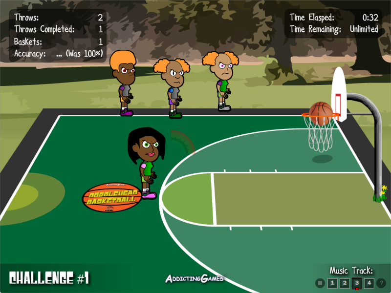 Bobblehead Basketball - Default Game UI