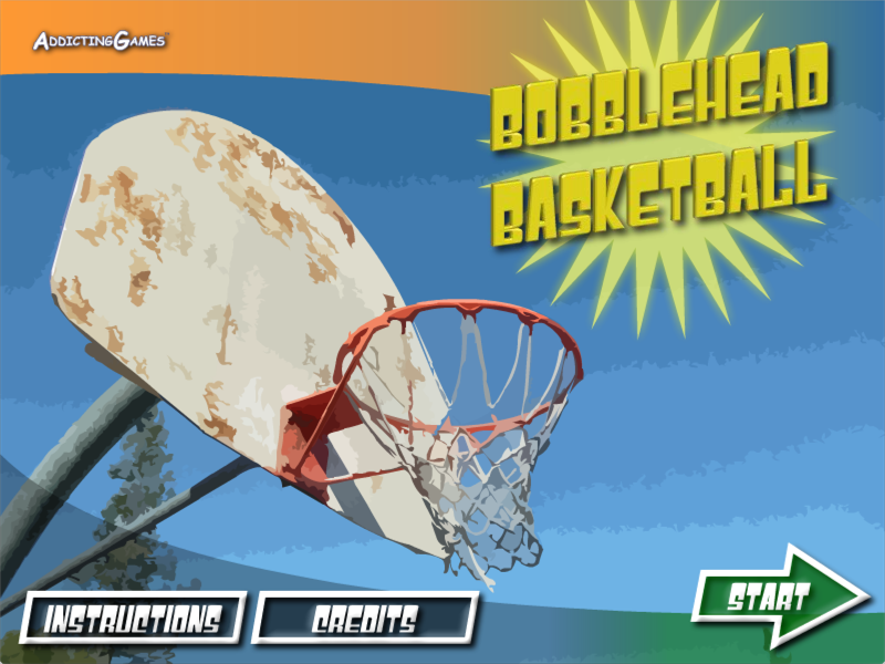 Bobblehead Basketball - Title Screen